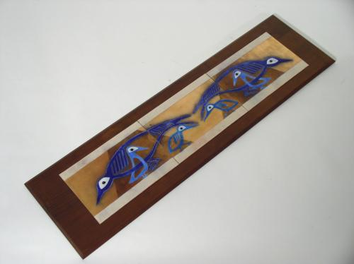 Enameled Copper Tile Plaque