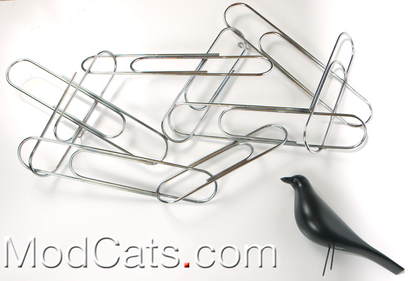 Jere Chrome Paper clips Sculpture
