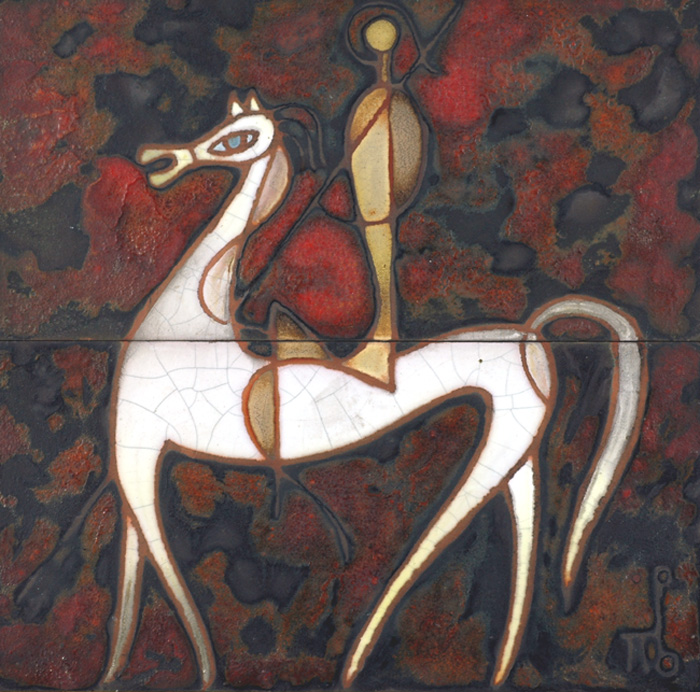 Man on Horse tiles - Panos Valsamakis