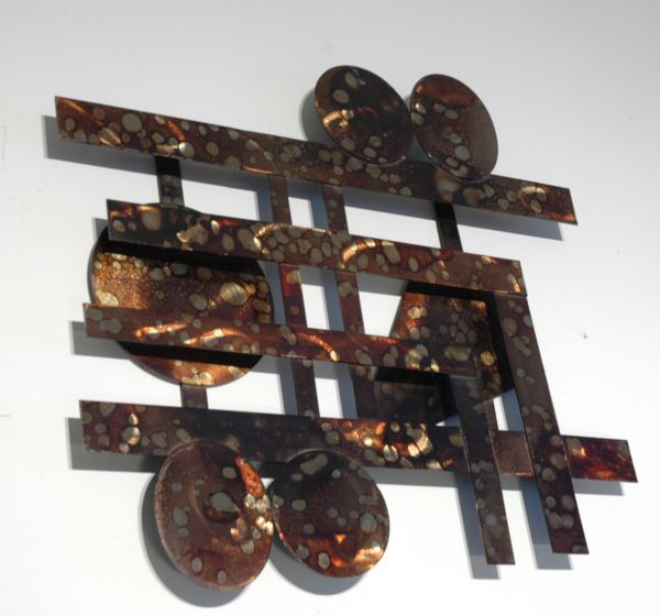 Welded steel metal wall Art