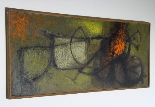 1968 Rogers Abstract Oil on Board