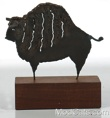 Bison Bull  Table Metal Sculpture