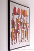 Original Abstract Cubist Band painting on canvas