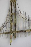 Large vintage Jere Bridge Metal Art Sculpture