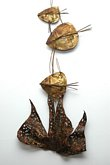 Welded Metal Wall Art Fish Sculpture