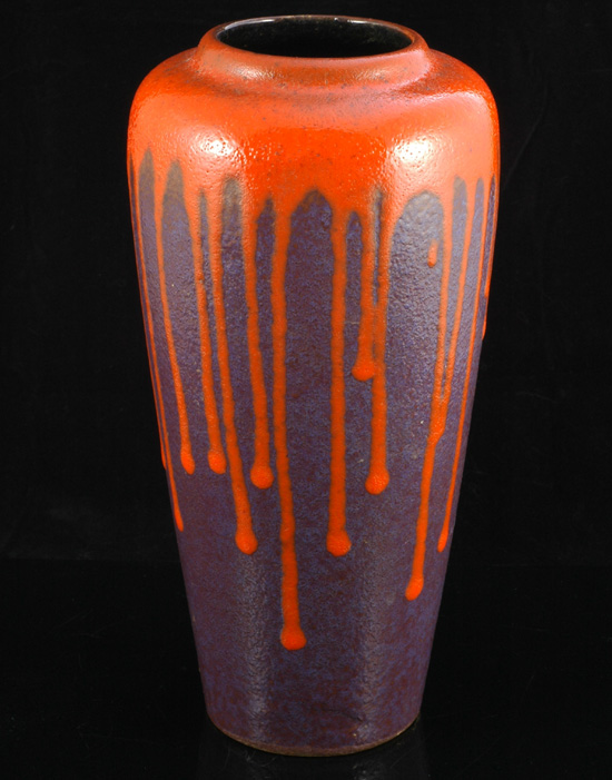 German drip glazed vase