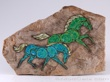 Hagen Renaker Double Horse Plaque