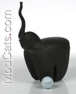 Black Italian Ceramic Elephant