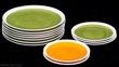 Tackett for Shmid Porcelain Orange and Green Plates