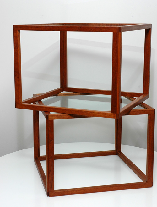 Danish Teak Cubular End Tables