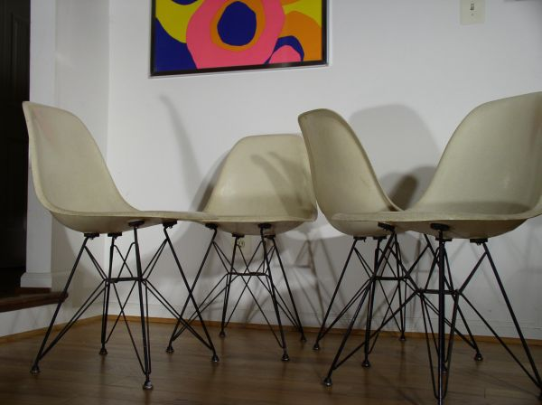 Set of four vintage Eames DSR chairs
