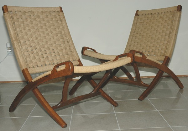 danish modern folding rope chairs rh modcats com DIY Rope Chair Chair Rope Swing