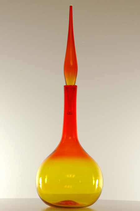 Blenko #627L Tangerine Decanter