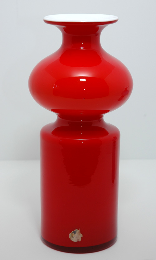 Carnaby Holmegaard Tall Red Vase