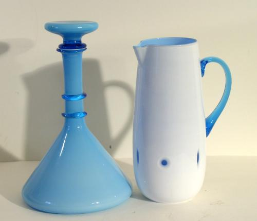 Cased Italian Decanter and Pitcher Set