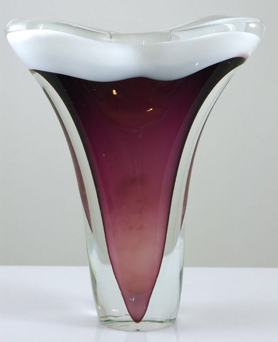 Flygsfors Coquille Fan Vase 1958