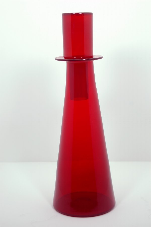 Ruby Stoppered Decanter