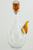Blenko #6715 Spouted Decanter Honey