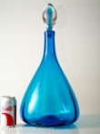 Blenko #6953 Decanter Blue