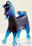 Small Blue Glass Horse