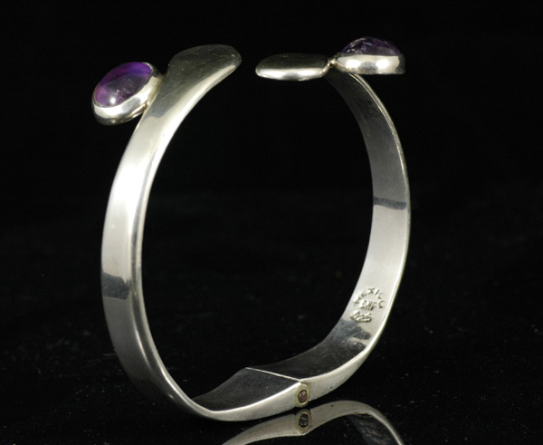 Mexican Sterling and Amethyst Bracelet