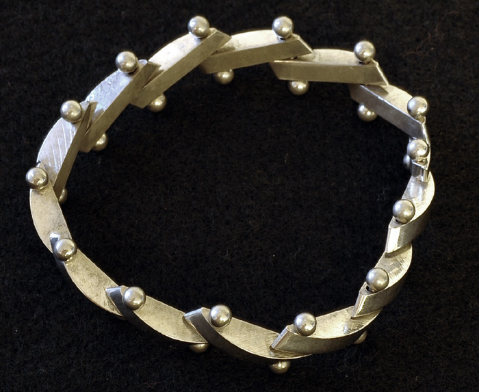 Mexican Chunky Sterling Bracelet