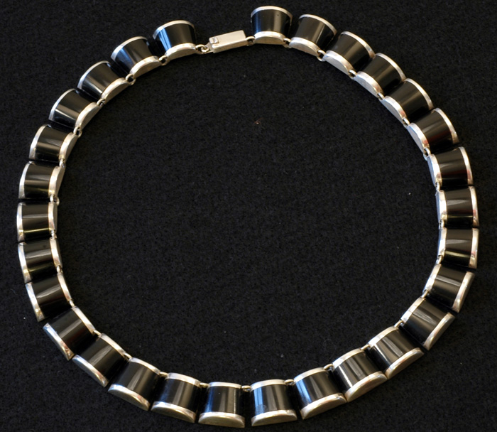 Taxco - Sterling and Onyx Necklace