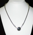 Finnish Kalevala Koru Spectrolite and Sterling Necklace