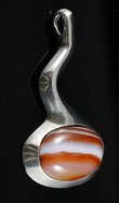 Nill Sterling and Agate Pendant