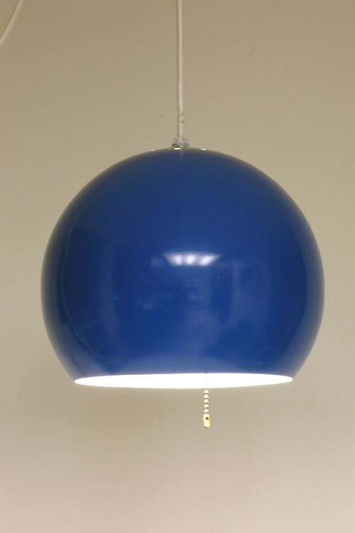 Blue Ball Swag Lamp