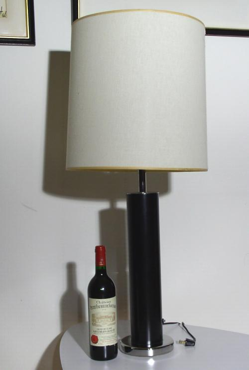 Nessen Black & Chrome Table Lamp
