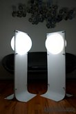 Neal Small - Pair of Acrylic Plexiglas Floor lamps