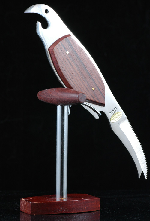Japanese Stainles and Rosewood Bar Set