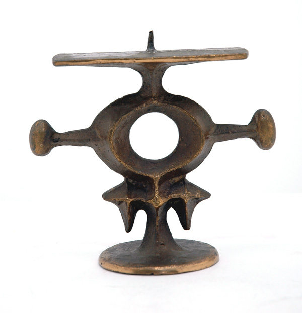 Cast Bronze Arts and Crafts Candlestick
