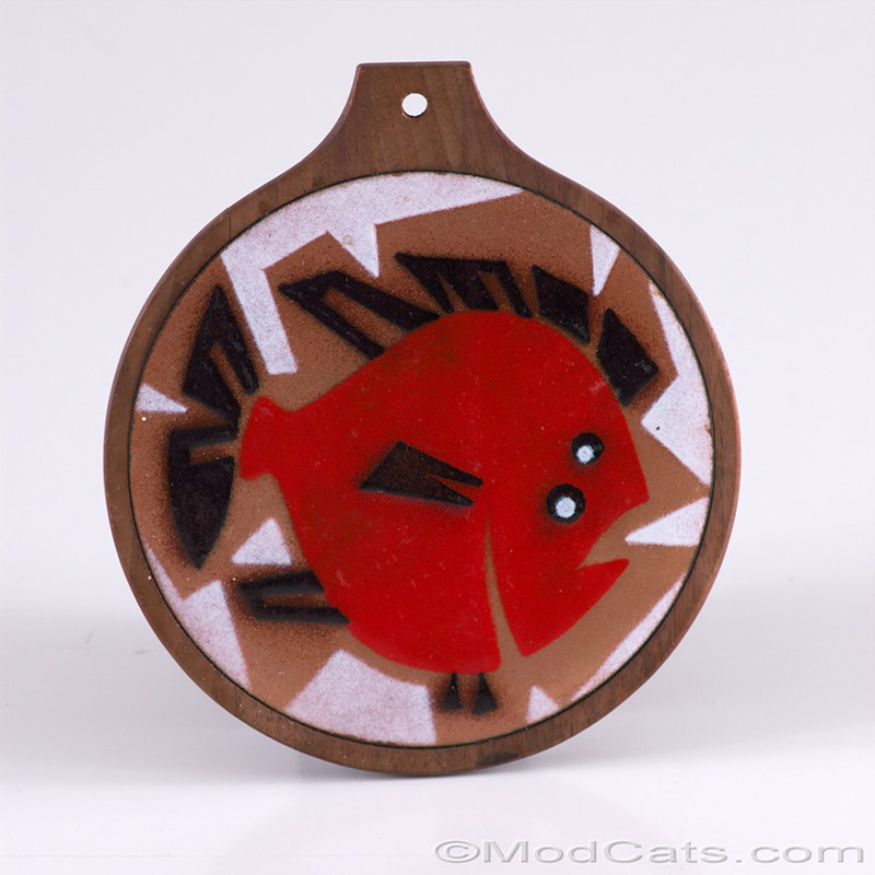 Enamelled Copper Fish Trivet / Board