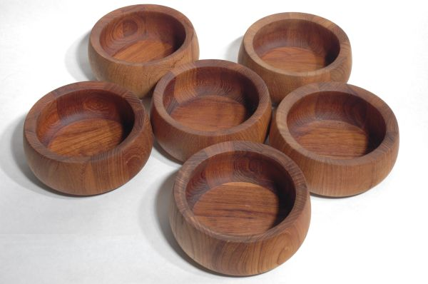 Dansk IHQ Teak Salad Serving Bowls