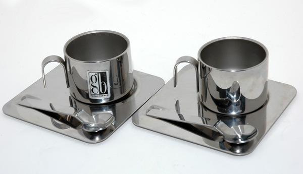 Italian Stainless Steel Espresso Cup set