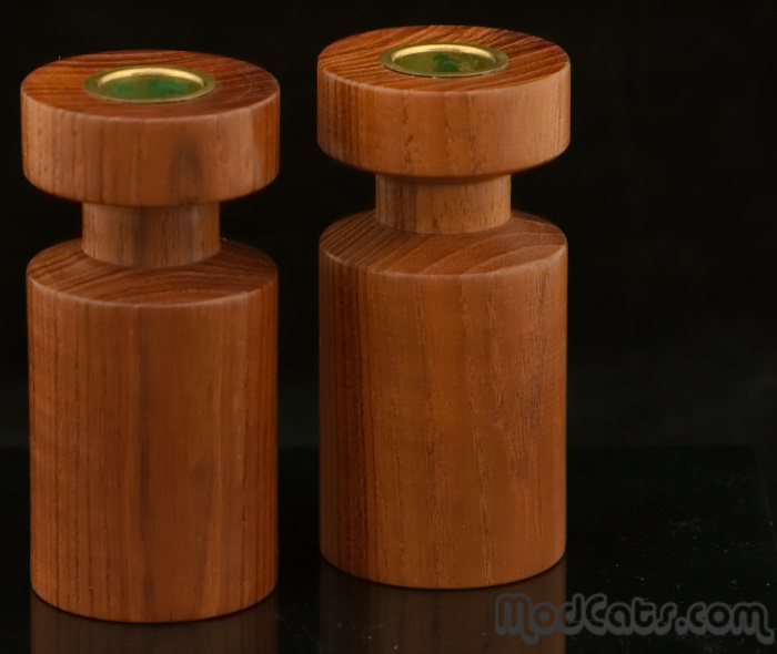 Danish Teak Candlesticks