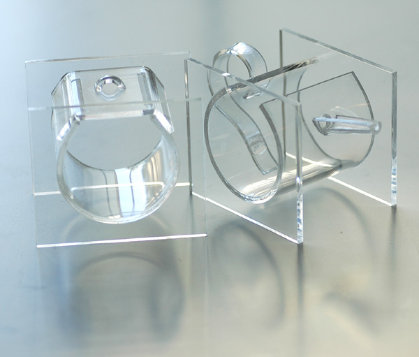 Lucite Acrylic Creamer and Sugar Set