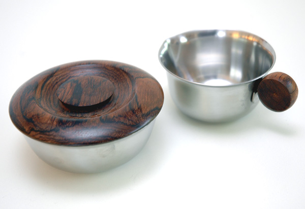 Lundtofte Stainless/Rosewood Sugar Creamer Set