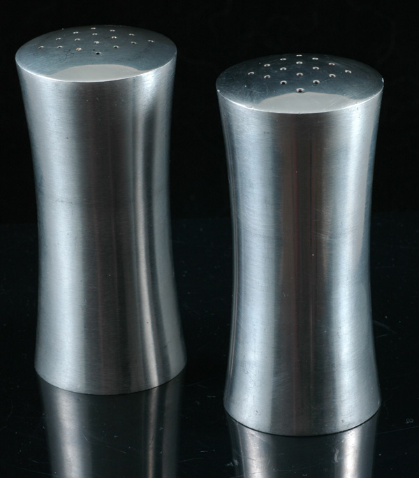 Swedish stainless steel salt and pepper shakers