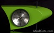 Atomic Green Boomerang Clock