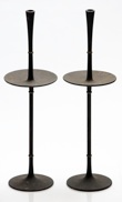 Dansk IHQ Tall Cast Iron Candlestick Pair