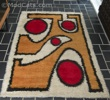 Large Abstract Rya Wool Rug